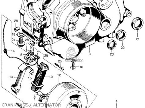 1970 honda ct70 engine parts diagram honda st90 parts