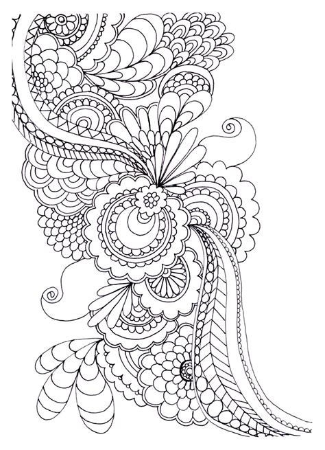 zen anti stress  print drawing flowers anti stress adult coloring pages page