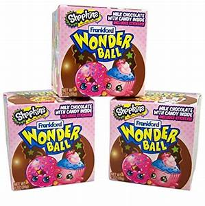 Shopkins Chocolate Wonderball Surprise Egg with Hard Candy ...