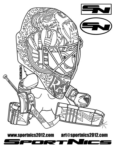 Nhl Team Logos Coloring Pages Getcoloringpagescom