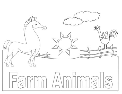 farm animals coloring book template microsoft word