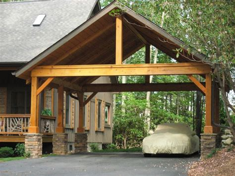 Such Timber Construction Like Carport Can Be Suitable To