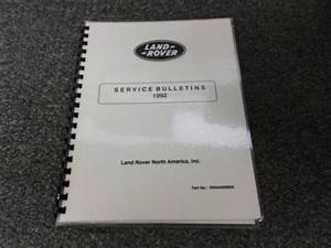 Land Rover Technical Service Bulletins