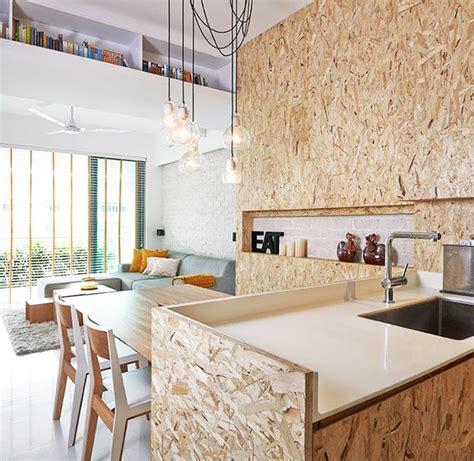 cuisine en osb les panneaux de bois dans nos intérieurs résolument