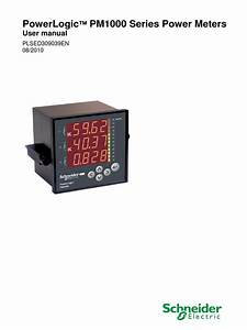 Powerlogic Pm1000 Seiries Power Meters Users Manual