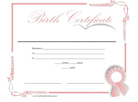 Birth Certificate Template by 15 Birth Certificate Templates Word Pdf Template Lab
