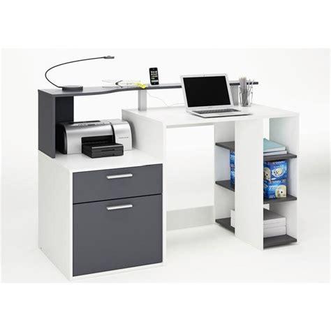 bureau multimedia blanc oracle bureau 140 cm blanc gris achat vente bureau