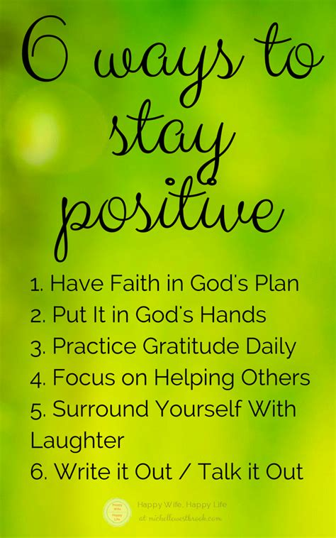 ways  stay positive  difficult times