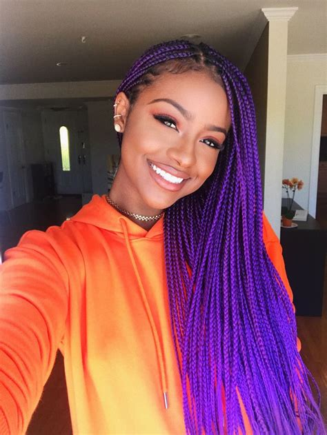 Colored Black Hairstyles by Best 25 Colored Box Braids Ideas On Blue Box