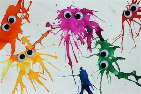 basteln mit kleinen kindern basteln mit kindern wasserfarbenmonster handmade kultur
