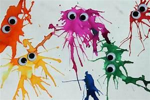 Gemalte Bilder Von Kindern : basteln mit kindern wasserfarbenmonster handmade kultur ~ Markanthonyermac.com Haus und Dekorationen