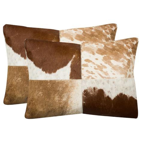 Cowhide Throw by Safavieh Carley Cowhide Pillow Set Of 2 Dec205a 1420