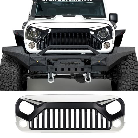jeep jk grill white front topfire grille grid grill for jeep wrangler jk
