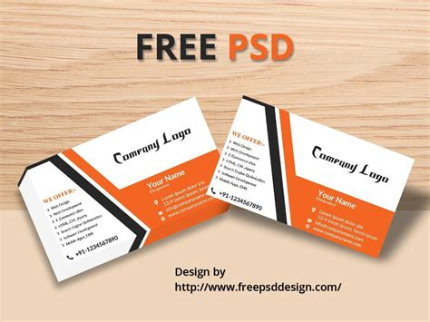 visiting card design template psd file free psd design all photoshop file html css