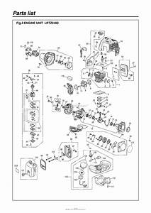 Red Max Lrtz2460 10 S  N 00100101  U0026 Up Parts Diagram For