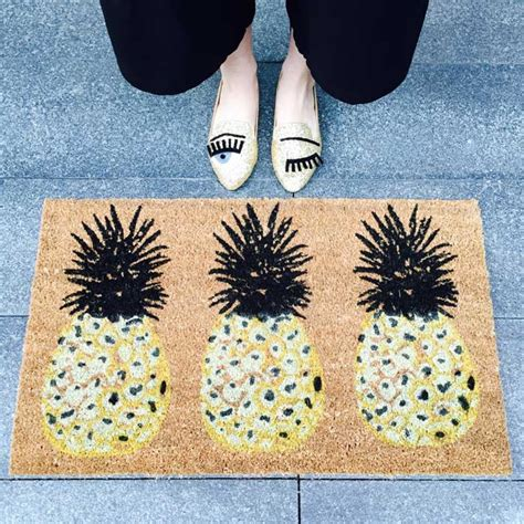 pineapple door mat three pineapple doormat bombay duck 163 22 50 buy