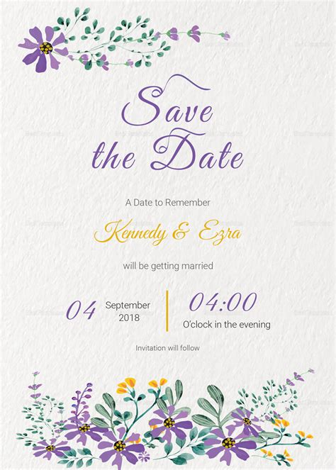 Publisher Save The Date Templates by Garden Save The Date Card Template In Psd Word Publisher