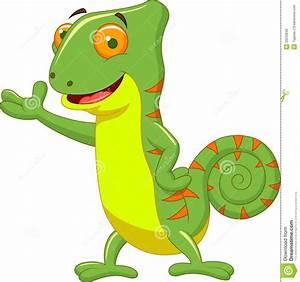 Chameleon Cartoon Stock Photo - Image: 33233640