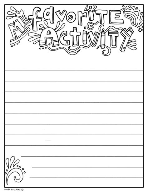 coloring writing prompts classroom doodles
