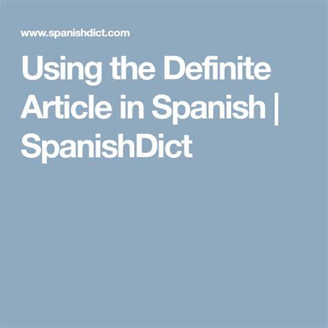 definite article  spanish  images