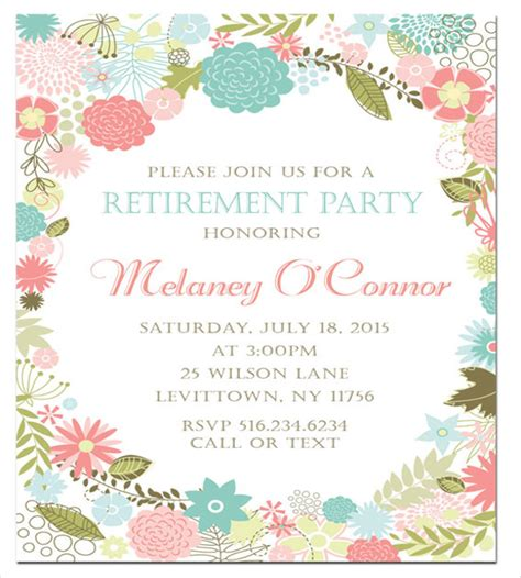 Free Templates For Retirement Invitations by Retirement Invitation Template 36 Free Psd Format