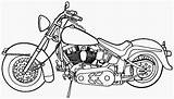 Coloring Pages Motorcycle Printable Filminspector sketch template