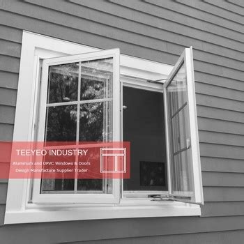 teeyeo extrusion type white color cheap house vinyl windows  sale french casement style buy