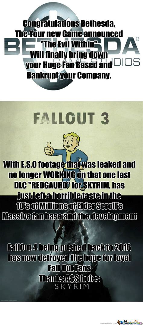 Bethesda Memes - bethesda a holes by recyclebin meme center