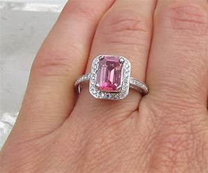 pink diamond ring unique engagement ring With wedding ring pink