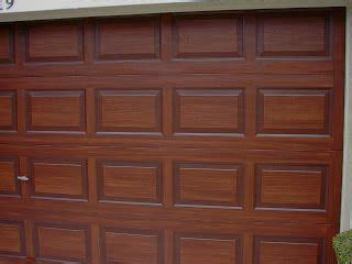 garage door tutorial including brand name colors taping