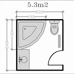 Plan Petite Salle De Bain Avec Wc : 18 plans de salle de bains de 5 11 m2 d couvrez nos ~ Melissatoandfro.com Idées de Décoration
