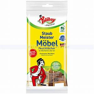 Mbelpflege Poliboy Staubmeister Mbel Feuchttcher 24 Stck