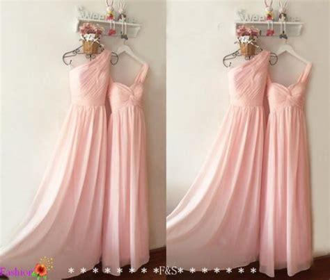light blush pink dress light pink bridesmaid dress long chiffon prom dress