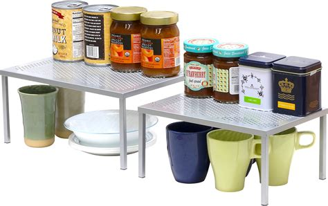 stackable kitchen cabinets simplehouseware expandable stackable kitchen cabinet and