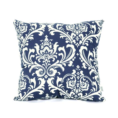 shop majestic home goods navy blue french quarter floral square outdoor decorative pillow