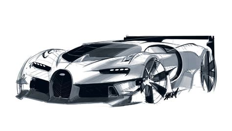 New Car Design : Bugatti Vision Gran Turismo Design Sketches