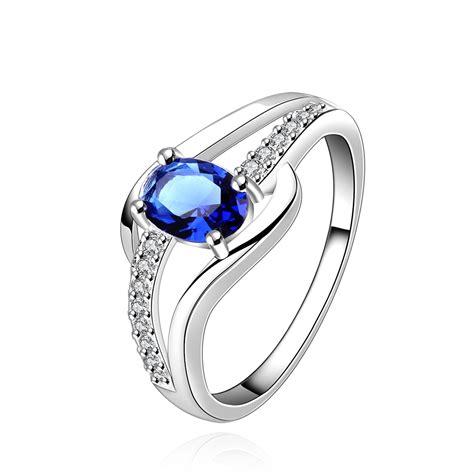 cincin blue sale free shipping 925 silver ring 925 silver fashion