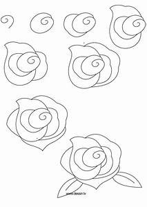 how to draw flowers | learn how to draw a rose with simple ...
