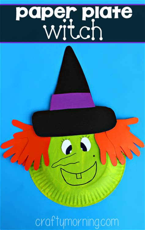 paper plate witch craft for crafty morning 300 | paper plate witch craft for kids