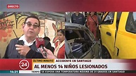 Grave accidente de furgón escolar en el centro de Santiago ...