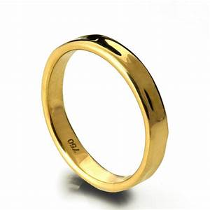 simple gold wedding band 18k gold ring 18k gold band With 18k gold wedding rings