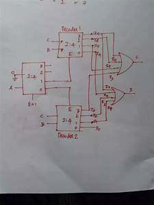 How Can A Create A Full Adder Using 2-4 Decoder