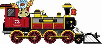 Train Cartoon Steam Vector Locomotive Western West