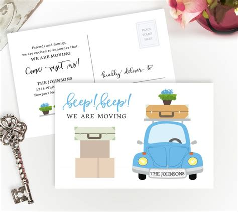 If you want to move cards between profiles, or share. We Are Moving Cards | Personalized Moving Cards