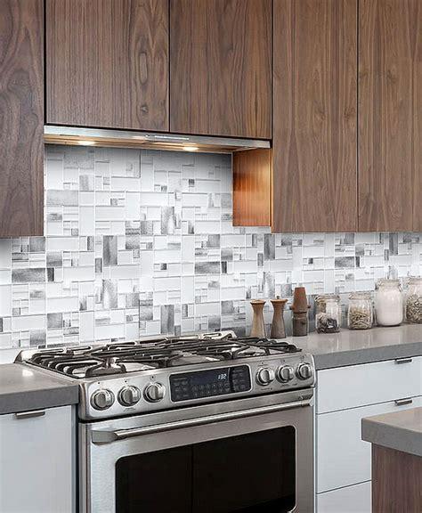 white glass metal modern backsplash tile  contemporary