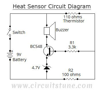 Rate Of Rise Heat Detector Diagram by Circuit Diagram Of Heat Sensor Electronic Schematics