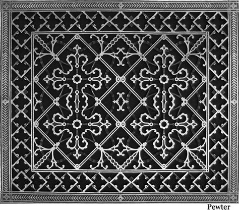 arts and crafts style decorative return air filter grille