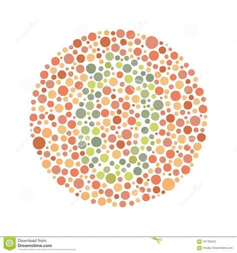 and green color blind test green color blind test stock vector illustration of
