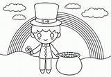 Coloring Shamrock Patricks Sheets Clip Colorear Saint Cliparts Duende Clipart Patrick Popular Colorable Library Kawaii sketch template