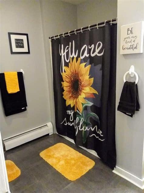 sunflower guest room   bright bathroom decor